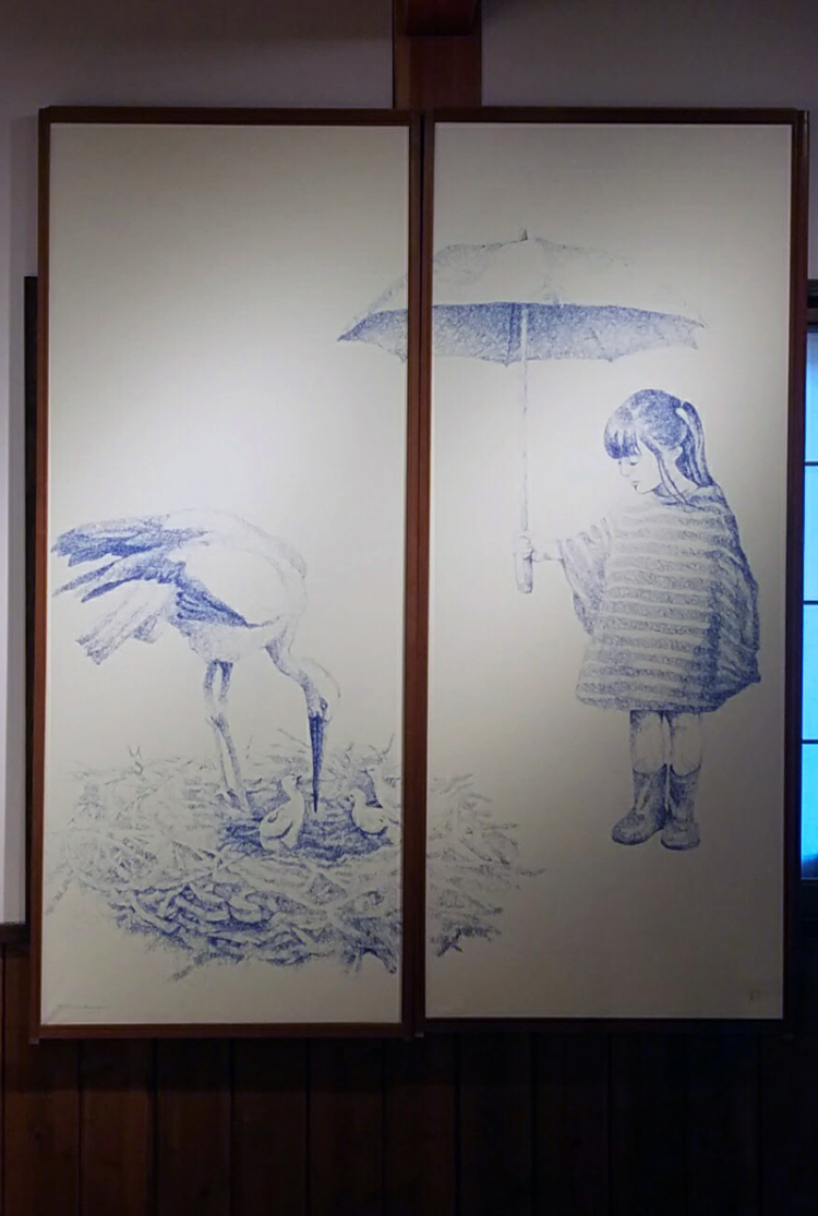 tomori nagamoto's oriental white stork