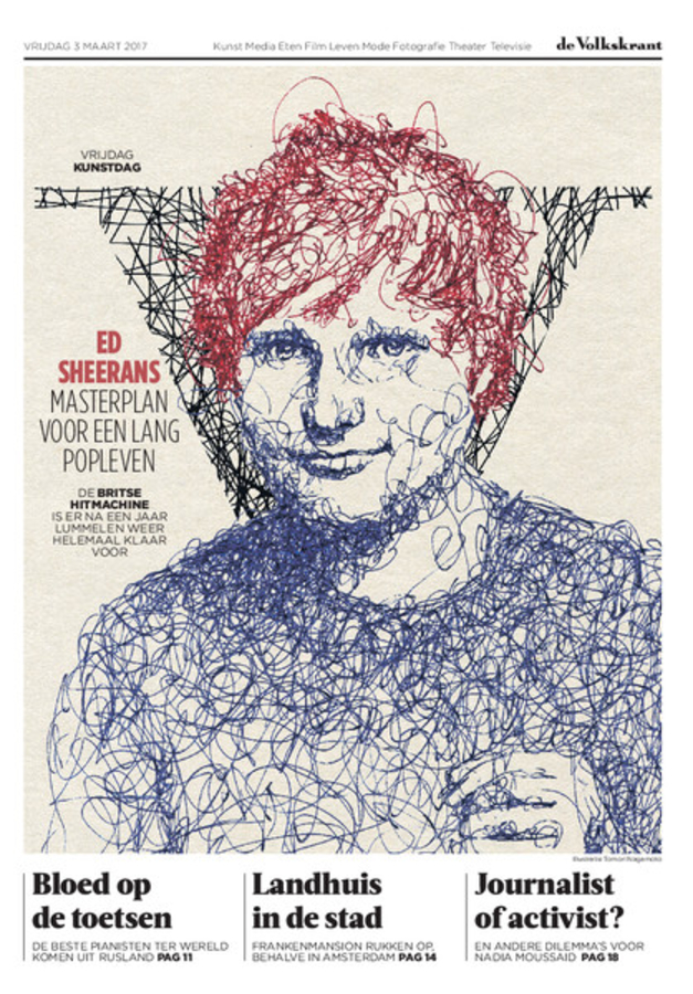 Ed Sheeran :cover for V, by de volkskrant